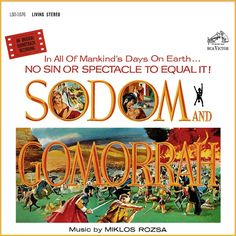 """""""Sodom And Gomorrah"""" (1963, RCA).  Music from the movie soundtrack."""