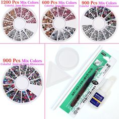 Perfect Summer 3d nail art Rhinestone Decoration pearl Manicure Decor Tips Acrylic Mix Color 2pcs -- Check out the image by visiting the link.