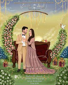 Wedding Invitation Maker, Illustrated Wedding Invitations, Pocket Wedding Invitations, Wedding Couple Photos, Wedding Photo Props, Bride Clipart, Wedding Card Design Indian, Daisy Wedding, Dream Wedding