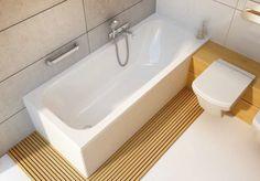 Aranżacja łazienki w stylu japońskim – proste, geometryczne formy i dużo drewna.