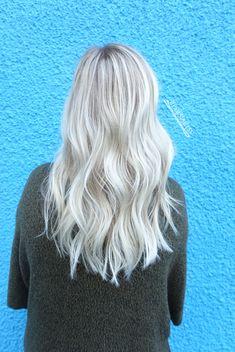 Platinum white ash blonde balayage