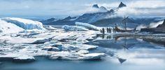 Glacier, Florent Llamas on ArtStation at https://www.artstation.com/artwork/3Q5XY