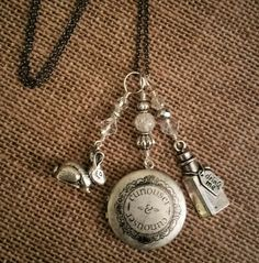 Alice in Wonderland Themed Charm Necklace by PiccadillyCharms