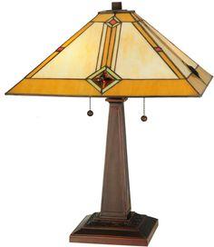"Meyda Tiffany 138110 22""H Diamond Mission Table Lamp"