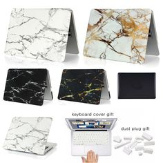 New For Coque Macbook Air Pro Retina 11 13 15 Cover Marble Stone PC Case For Macbook Air 13 Case Free keyboard Cover Dust Plug