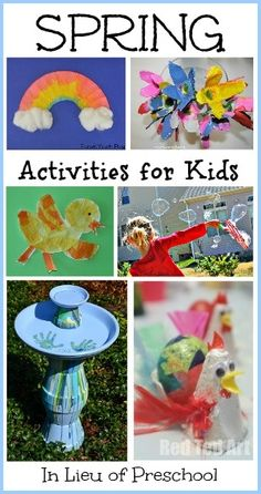 18 Spring Activities for Kids I think the bird bath one would be fun for the older kids too.