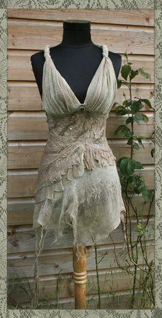 Lehdotar  Bohemian Fairy Lady Corset Top RESERVED by Moonalia