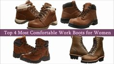 Most comfortable work boots for women Most Comfortable Work Boots, Stylish Boots, Men's Boots, Timberland Boots, Hiking Boots, Feels, Check, Model, How To Wear