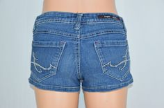 Fragile Womens 3 Blue Jean Dark Wash Short Summer Shorts Design Pockets #Fragile #Denim