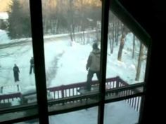 Stupid Snowboarder From America - #funny #fail