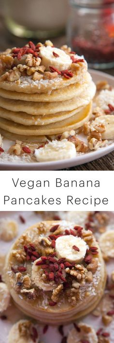 Vegan Recipe: Banana Pancakes