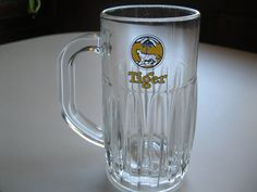 Tiger Beer Mug, Vintage Ribbed Tiger Beer Mug   **** Please buy something from my friends Etsy store. She could use the money. Her and her husband are raising 5 unwanted rescue dogs including a 3 legged Chiahuahua. Please help.