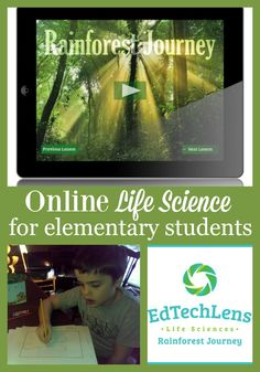 Rainforest Journey from EdTechLens provides online life science lessons for elementary students. Read our review of the K level as used in our homeschool.