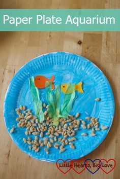 Paper Plate Aquarium - Little Hearts, Big Love