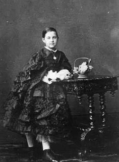 "Olga Konstantinovna Romanova (1851–1926) Russia, Future wife of  King George I (born Prince Vilhelm (William) Denmark)  (1845-1913) Greece. 2nd child of Grand Duke Konstantin ""Kosti"" Nikolaevich Romanov (21 Sep 1827-25 Jan 1892) Russia & wife Alexandra Friederike-Alexandra Iosifovna ""Sanny"" (8 Jul 1830-6 Jul 1911) Saxe-Altenburg, Germany."