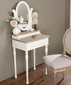 Loving this Traditional French Mirror Accent Table on #zulily! #zulilyfinds