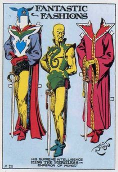 "PD162 ""Ming the Merciless"" Paper doll by Alex Raymond"