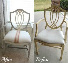 Beautiful chair transformation in Paris Grey and Old White