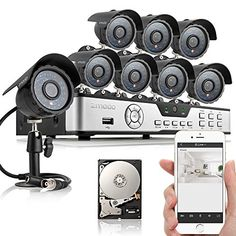 Zmodo 8CH HDMI 960H P2P DVR 600TVL CCTV Home Video Surveillance Outdoor Indoor Day Night Security Camera System w/ 1TB Hard Drive Scan QR Code to Easy Remote Access Free 2-Year Warranty - http://cameras.celebratethebest.com/?product=zmodo-8ch-hdmi-960h-p2p-dvr-600tvl-cctv-home-video-surveillance-outdoor-indoor-day-night-security-camera-system-w-1tb-hard-drive-scan-qr-code-to-easy-remote-access-free-2-year-warranty