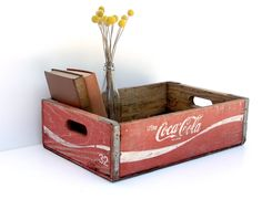 Vintage Wooden Coca Cola Crate -- Wooden Coke Crate -- Rustic Home Decor. $25.00, via Etsy.