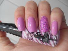 Charminho Lilás (Risqué) + filetinhos pink furta cor