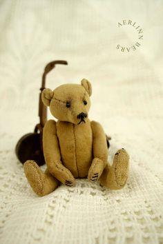 MINIATURE 5.7CM ARTIST TEDDY BEAR FROM AERLINN BEARS