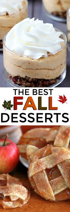 The most AMAZING Fall Desserts!  Pumpkin Pie is great, but these Thanksgiving desserts take it to the next level!   #tablespoon #ad #falldesserts #apple #Pumpkin @Tablespoon