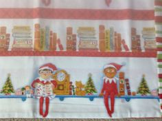 Elf on the shelf pillowcase  by suessewingshop on Etsy