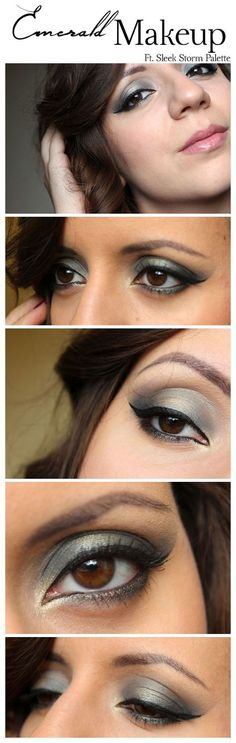 Emerald Eye Makeup, with Sleek STORM Palette By What I Heart About