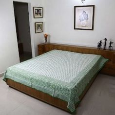 Bedroom Decor Home Styles Indian Flat Sheet Bed Sheet Queen Cotton: Amazon.co.uk: Kitchen & Home