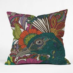 Valentina Ramos Alexis And The Flowers Outdoor Throw Pillow | DENY Designs Home Accessories. Front porch pillows.