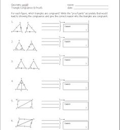 Congruent Triangles and CPCTC Proofs Cut and Paste Activity | Cut ...