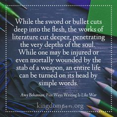 Kingdom Pen, writing quotes, Amy Bohannan