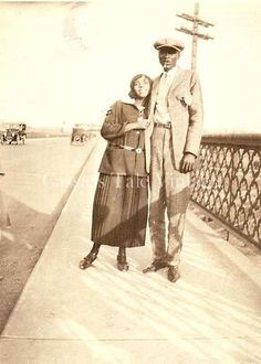 Vintage Photo African American Black Couple Bridge Arms Round Each Other 1920s   eBay