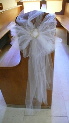Chair cover with organza sash and  Diamante buckle
