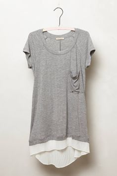 Lace Divide Tee - anthropologie.com