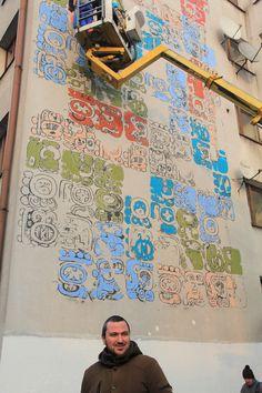 Mayamural /// Day 4- 9 dec 2012, Cracow, Poland - Part 3 #streetart #crakow #graffiti #poland