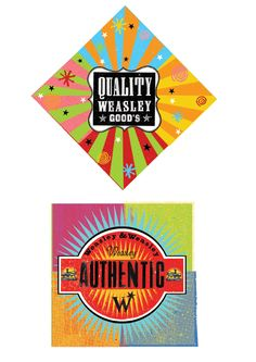 Weasleys' Wizard Wheezes (Weasley & Weasley) official packaging box tops. Got it from http://www.minalima.com (Harry Potter prop designers) some time ago. I adore the design.