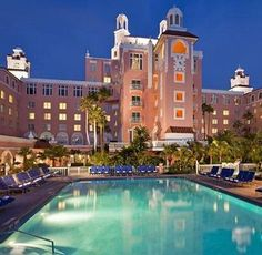 The luxurious Don CeSar Beach Resort in Clearwater Beach, FL has everything from soft white sand to tropical sunsets to oceanfront rooms - if you want to feel spoiled this is the place to be.