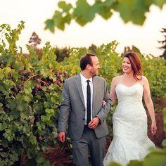 Vineyard wedding photos // King Estate Winery in Eugene, Oregon // movingpictureweddings.com