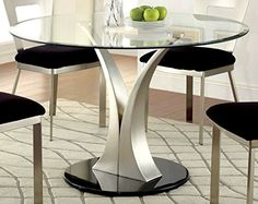 Furniture Of America Maiorga Round Gl Top Dining Table Https