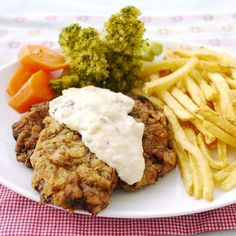 We made these country fried steaks for lunch today.