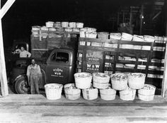 Photo #2 of the Week 9-15-2014.  Cucumbers delivered to Alaga Syrup / W & W Pickles location.  Not dated [possibly ca. 1950].  From RG 107 Hugh Spann Photograph Collection.