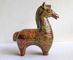 Vintage Bitossi Style Horse, Ceramic Horse Sculpture, Mid Century Modern Horse, Bitossi Ceramiche, Raymor Horse, Aldo Londi