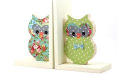 Hey, I found this really awesome Etsy listing at https://www.etsy.com/listing/222751611/back-to-school-bookends-green-owl-wooden