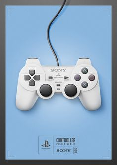 Playstation 1 Controller Poster -Quentin Fevre