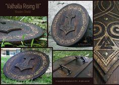 Valhalla Rising II  Wooden shield in 65 cm diameter