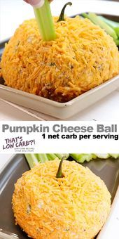 Pumpkin Cheese Ball is the per dip-worthy take along for your next get together. 'Tis the season for an awesome pumpkin-shaped zesty appetizer that your guests won't be able to stop eating. food for party videos appetizers dip recipes Pumpkin Cheese Ball Entree Halloween, Halloween Appetizers, Thanksgiving Appetizers, Halloween Food For Party, Keto Thanksgiving Dinner, Thanksgiving Ideas, Pumpkin Cheese Ball Recipe, Cheese Ball Recipes, Cheese Pumpkin