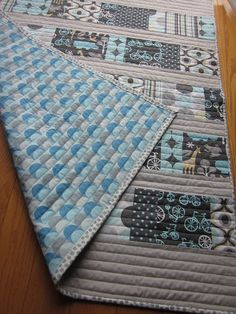 love the straight line quilting on this - IMG_3259 by More_Please, via Flickr