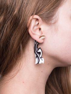 Art Deco Earrings Rare Horn earrings Unusual art by MakArsStudio